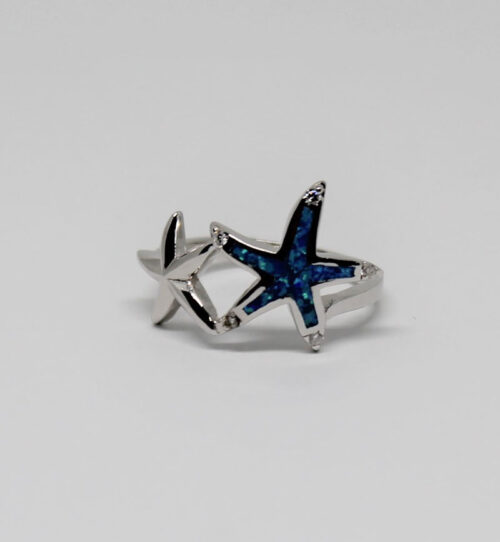 inel din argint cu stele de mare