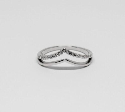 inel elegant din argint