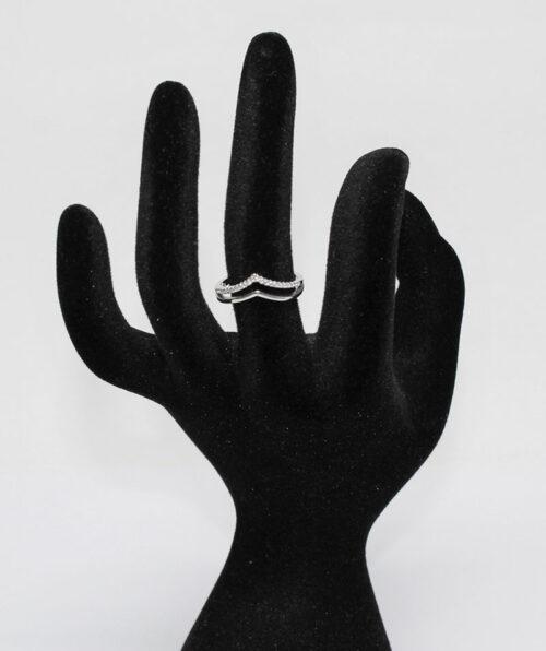 inel din argint rodiat