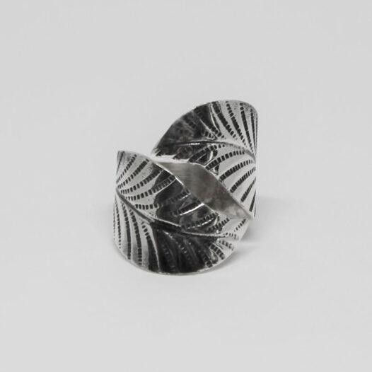 inel frunza din argint