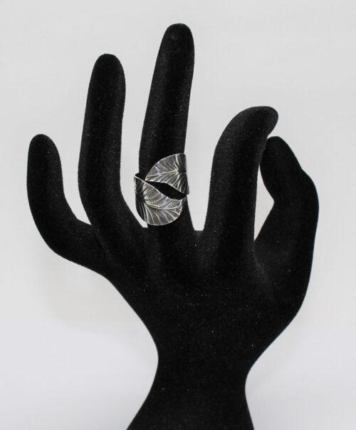 inel frunza din argint 925