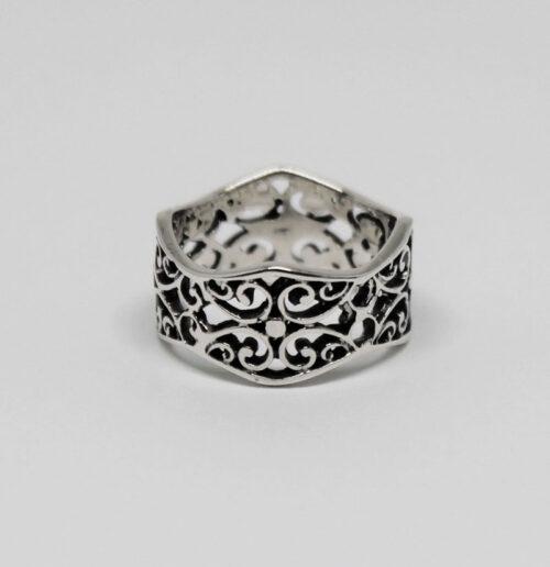 inel din argint cu broderie