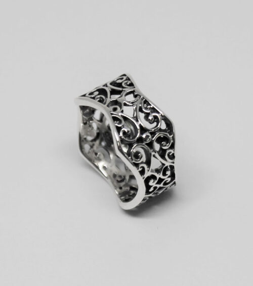 inel argint design oriental