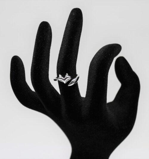 inel din argint vulpita