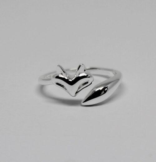inel vulpita din argint