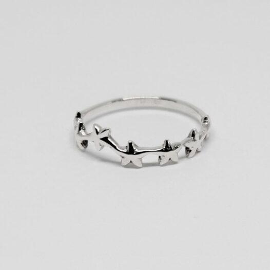 inel din argint cu stelute de mare