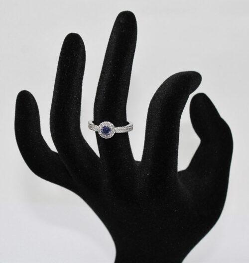 inel din argint rodiat cu pietre